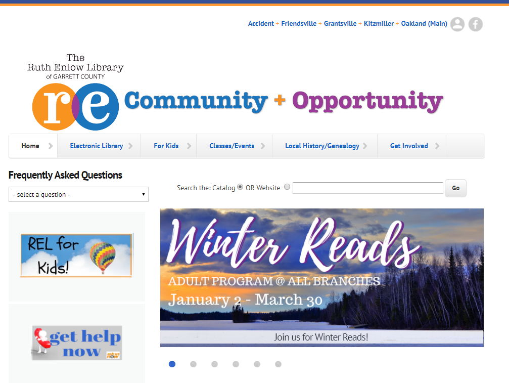 New Ruth Enlow Library website