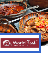 Food dishes from around the world
