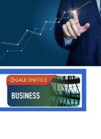 GOF logo with man pointing to business graph