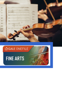 GOF logo with people playing violin and sheet music