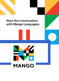 Bright colored flags - Mango logo