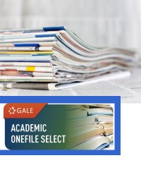 Academic onefile logo with newspapers