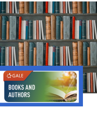 Books and Authors logo with library of books