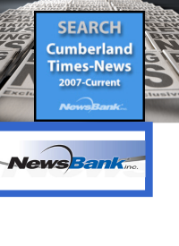 Cumberland Times News with newspaper background