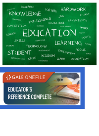 Educators Reference logo with words on a chalkboard