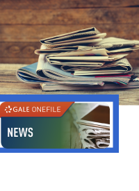 logo with newspapers stacked
