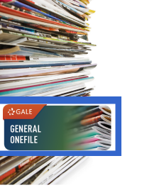 General OneFile logo with magazine stacks
