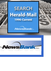 Herald Mail Newspaper with news print background