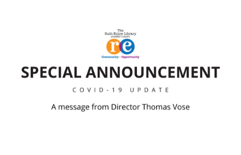 Special Announcement from Director Thomas Vose