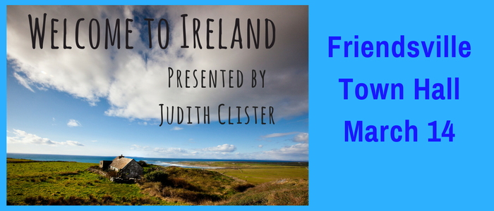Welcome to Ireland, presented by Judith Clister slide