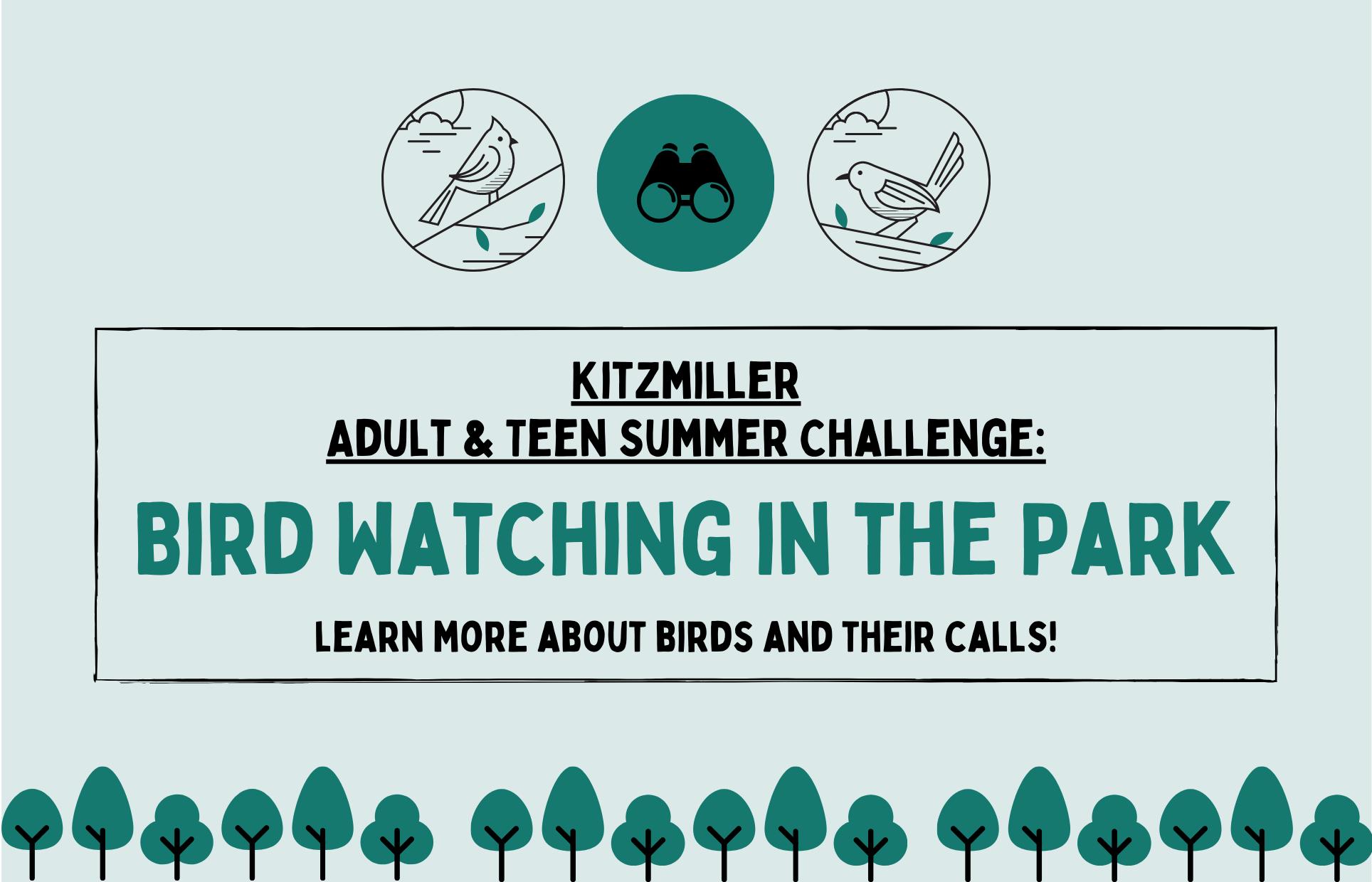 Bird Watching in the Park Kitzmiller Teen Adult