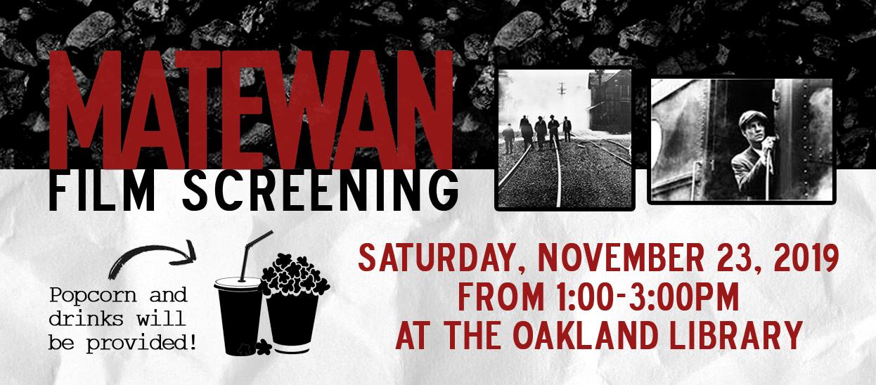 matewan west virginia coal mining film screening