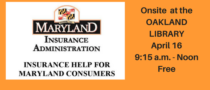 Maryland Insurance Administration Onsite at the Oakland Library