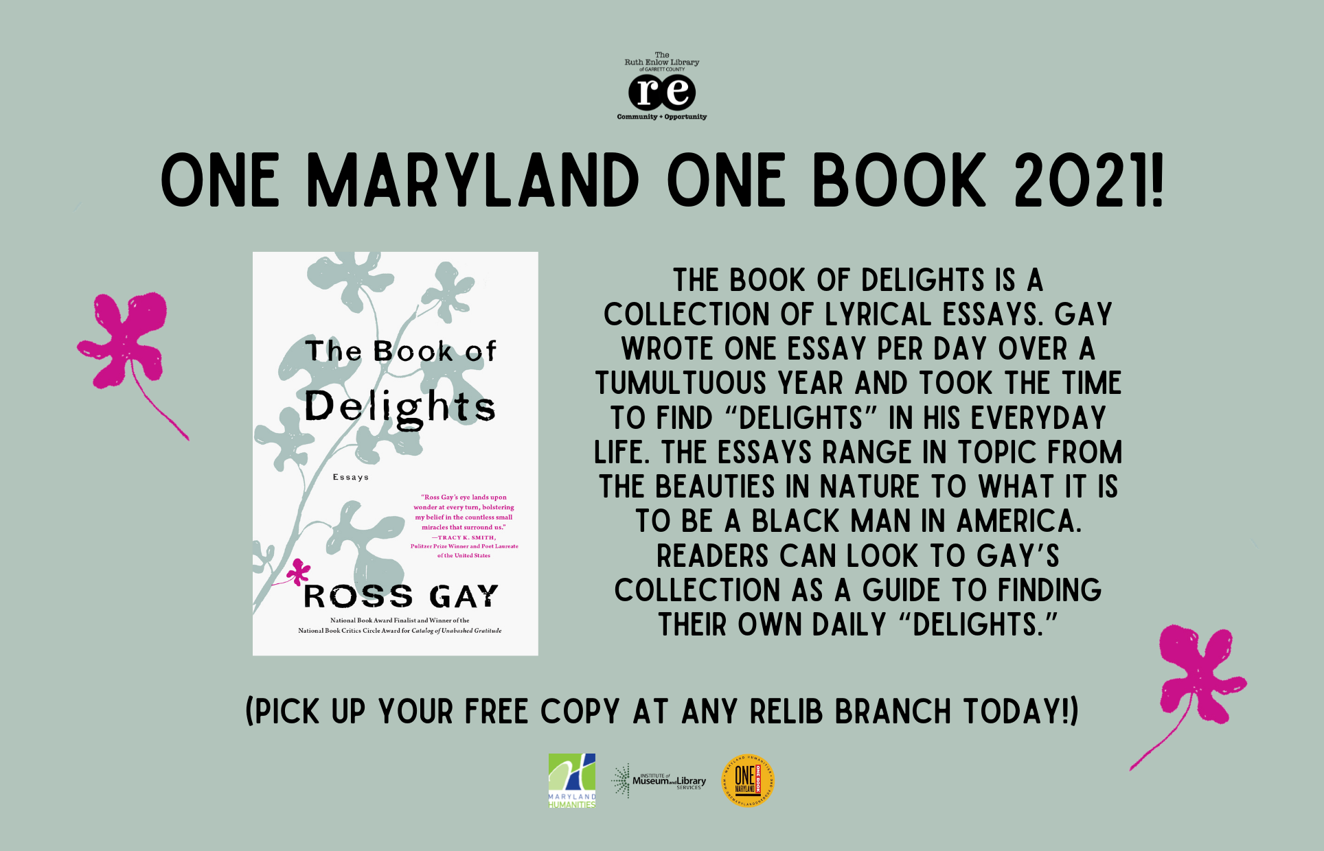 One Maryland One Book 2021 The Book of Delights