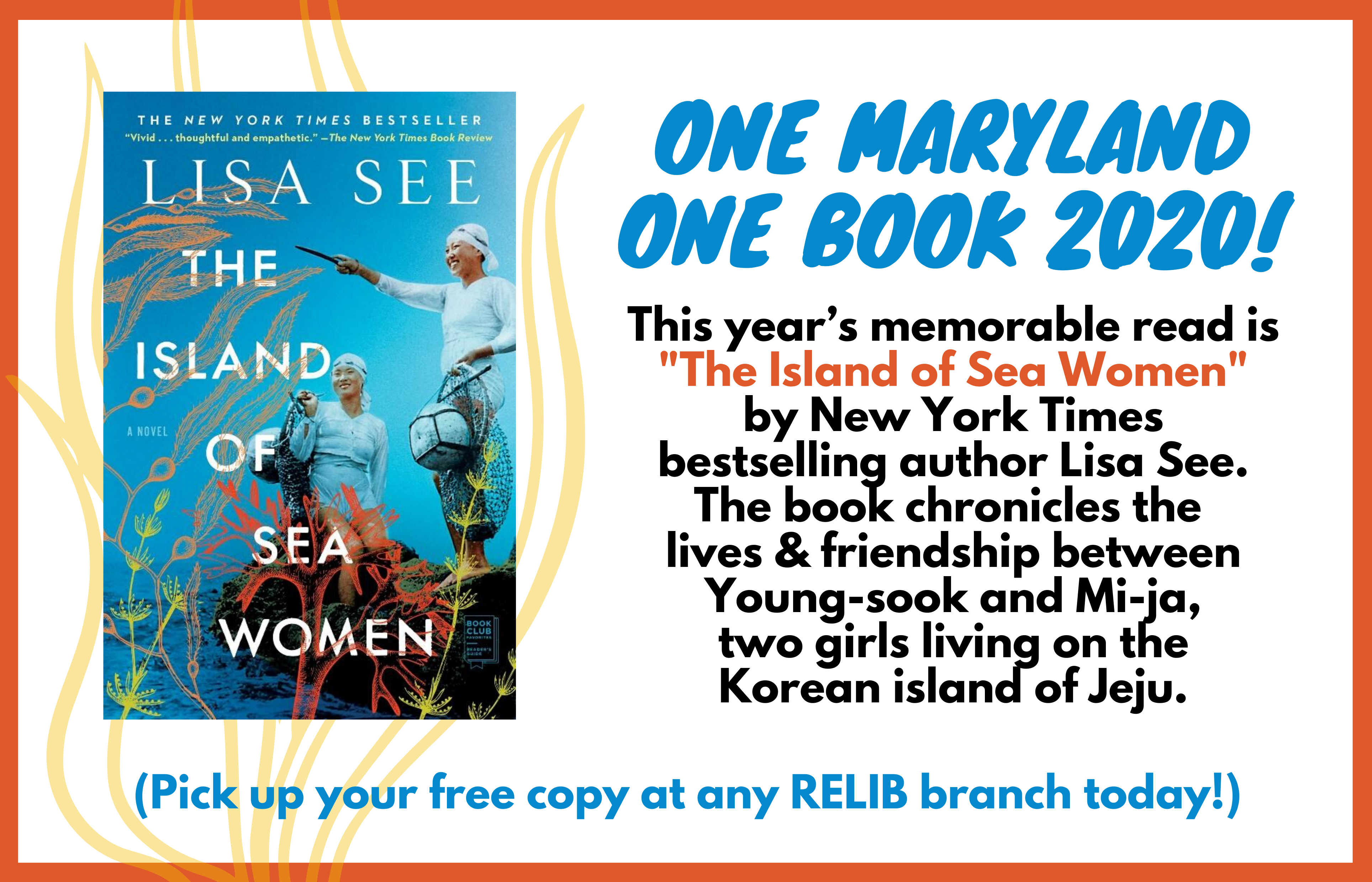 One Maryland One Book 2020 The Island of Sea Women