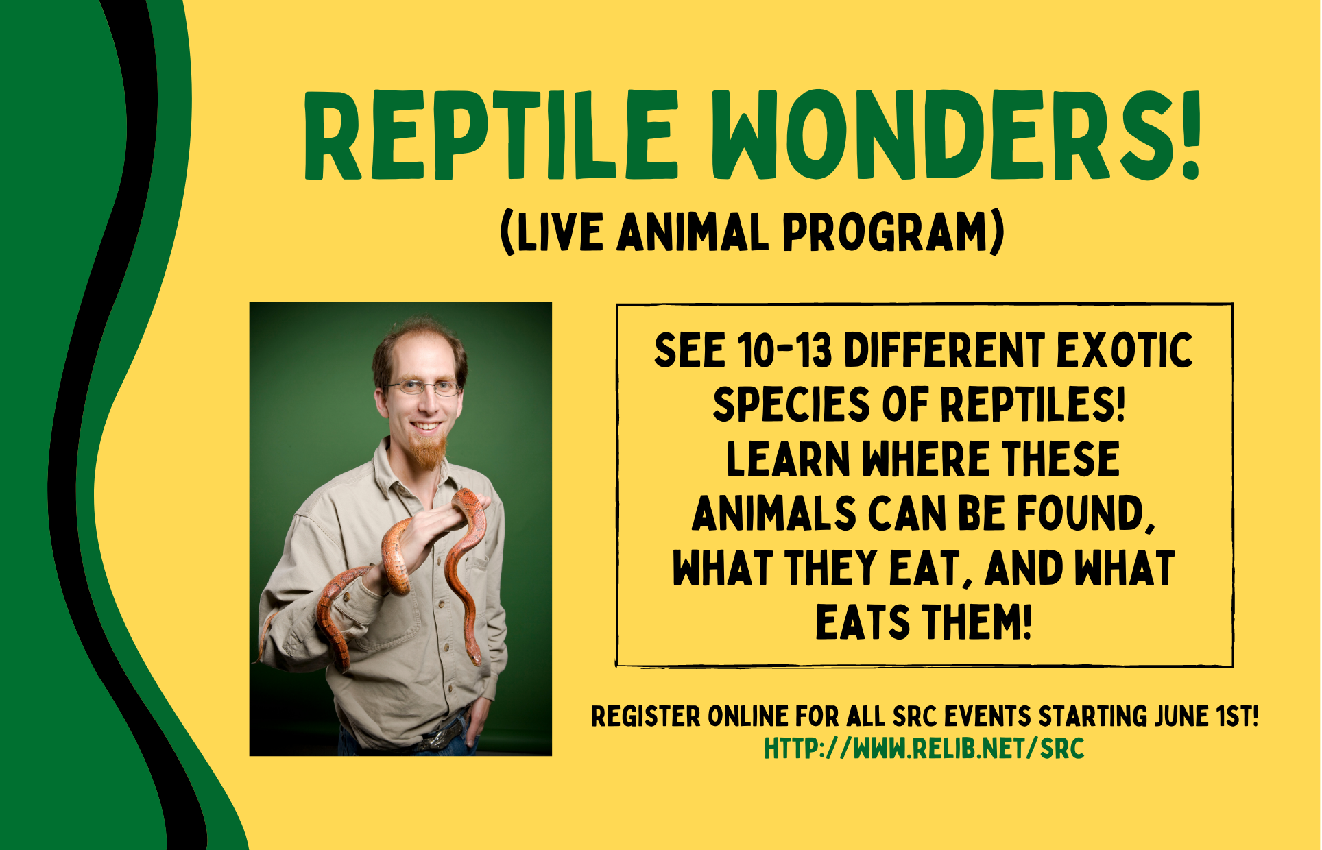 Reptile Wonders! Live Animal Show summer reading club