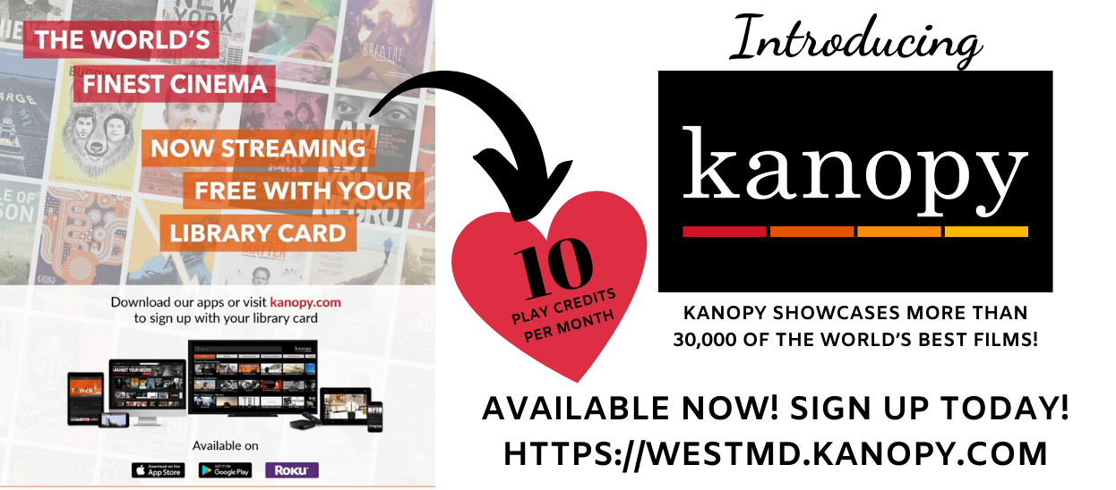 Kanopy logo with images of movie covers