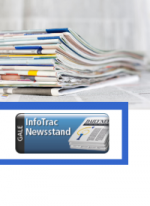 newspapers in a stack with InfoTrac logo