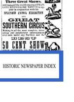 Historic Newspaper Index