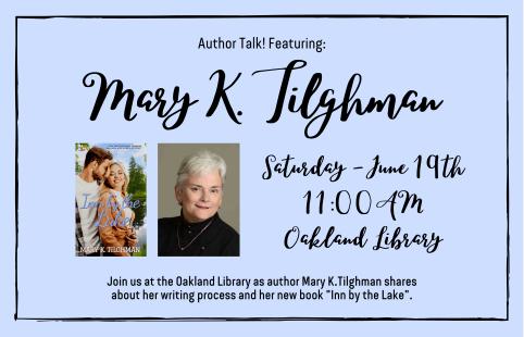 Author Talk with Mary K.Tilghman lake inn