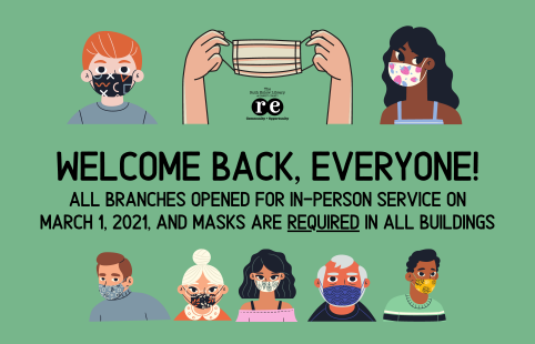 March reopening in-person service masks