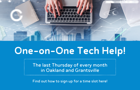 One-on-One Tech Help! Oakland and Grantsville