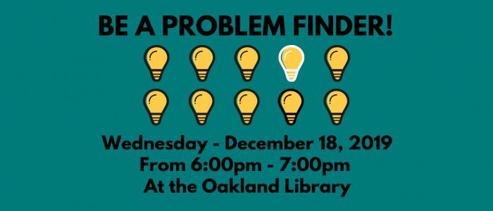 be a problem finder presentation