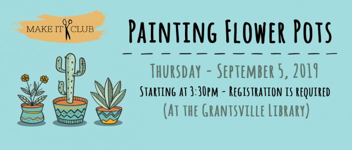painting flower pots grantsville