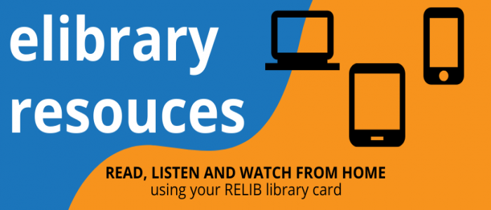 eLibrary Resources image with picture of electronic devices